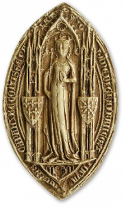 Second sceau de la Jeanne de Navarre, reine de France (1285-1305)