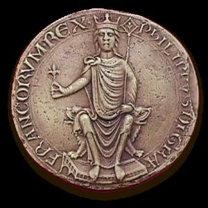 Premier sceau de majesté du roi Philippe Auguste (1180-1223)