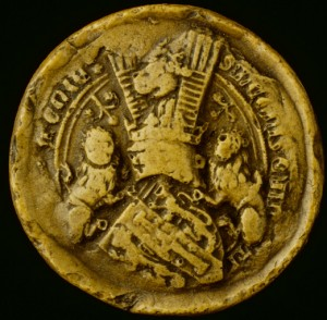 Moulage du sceau de Léon VI, roi d'Arménie (1384)Arch. nat., sc/B 20